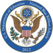 Logo of the United States Department of Education: Blue Ribbon School 2012