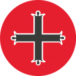 Mount Michael Logo Black Cross on in Red Circle