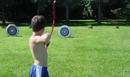 shooting arrow at target