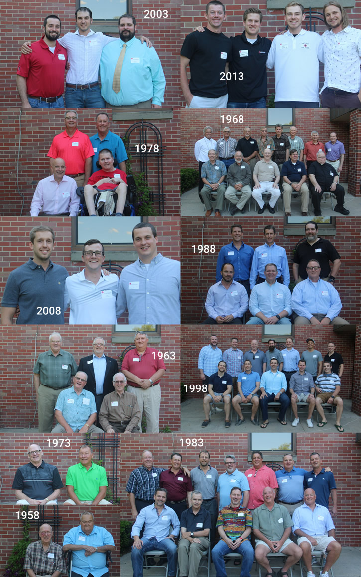Photo collage of reunion photos