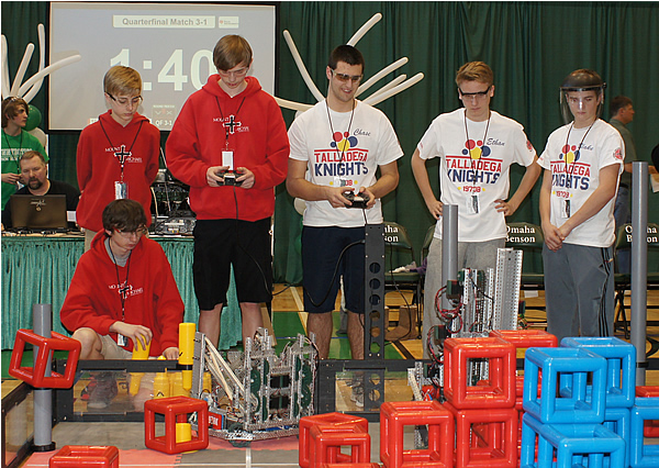 Students compete in robotics