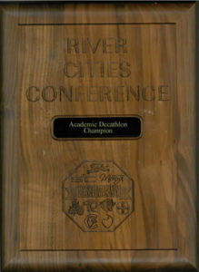 River Cities Conference Plaque
