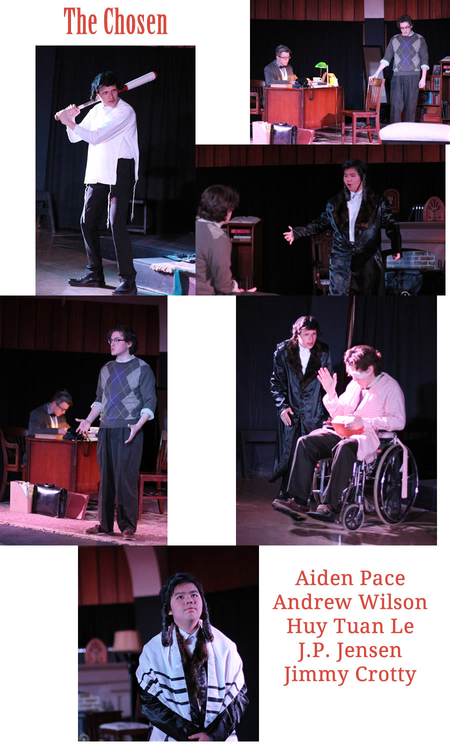 "Photos from the Play ""The Chosen"""