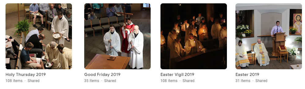 Representative photos from each of the 4 liturgies
