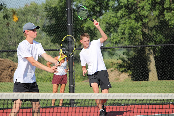Photo of doubles team players